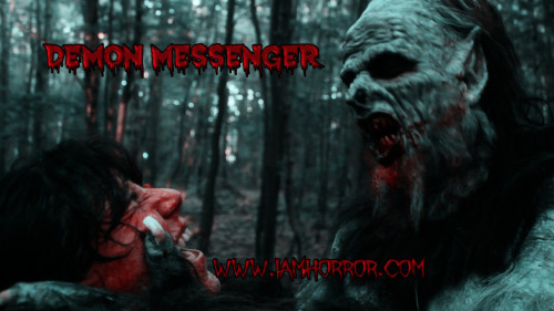 A kick-ass review of Demon Messenger! by: Charlie J.J. Kruger  There are thousands of self-made, no-budget films produced every year. Thousands. Most of them are horror films. As a horror fan (understatement of the century) I have come to terms with the fact that the genre I love is flooded past the point of saturation with new media constantly… and that a lot of it is complete and utter trash.   Making a good horror film is harder than making a normal good movie. It needs to be well written, well lit, well acted, well filmed, well edited, and well paced. Every part of this needs to come together for a horror film to be effective and scary. Most of the time with independent releases, the ball gets dropped. Not this time though. Not with 'Demon Messenger'.    This is an effective, creepy, funny when it wants to be, monster in the woods film that is worth the time spent watching it. I knew that the crew and the actors were horror fans going into watching the movie, so I knew that they would be trying their hardest, but to be honest, I have had a lot of friends in film school or that just make student films… and… well… just because you like to watch movies doesn't mean you should make them. So I was nervous that this film would end up falling on its snarling face. But it doesn't! Actually, it charges right at you.    The story revolved around separate groups of people going out into the woods, aware that something is a little off. The story unfolds over the course of the film, so I cant tell you too much without giving away well timed reveals. That was something I really liked about this movie, actually. The story unfolds until the very end of the film. This is a common problem for independent horror films. They blast through the story in the first hour, or 45 minutes, and then give us another 45 minutes of just gore, fighting, screaming, or bad makeup effects. This movie was timed, and carefully laid out to avoid that. And on top of it all, there isn't a single 'bad' makeup effect in the whole movie, only good ones.    With good makeup (amazing monster effects, truly amazing looking), well acted characters, effective storytelling, and well placed soundtrack work, it is actually almost easy to forget that you are watching an independent film. The only thing that gives it away is the quality of the digital recording, it doesn't look like James Cameron filmed it. Though, the hand-held video quality lends a little bit of credence and reality to the film. It was interesting, while I was watching the movie (on a 32 inch 1080 TV) I felt like the movie was real. Like it was an account of real events, instead of something glowing on the screen in front of me.    All in all, this is a quality film, and a strong addition to any horror collector's harddrive/DVD shelf. Pick it up and enjoy the horror!  http://horror-punks.com/group/moviereview/forum/topics/movie-review-demon-messenger?xg_source=activity