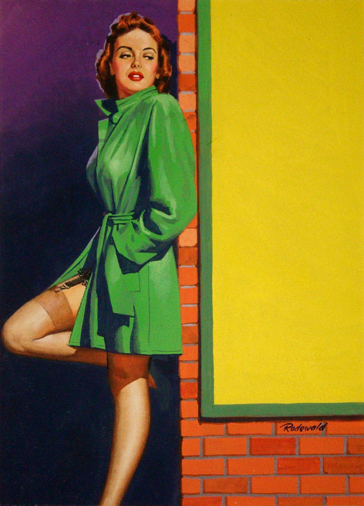 Exotic Novel Magazine 1949 Cover illustration for Exotic Novel Magazine 1949Pay for my Kiss! by Luther GordonIllustration by Fred Claude Rodewal