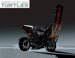 Early concept art for the Foot Clan bikes from the new Nick Turtles.  http://www.turtlesvsfoot.com/