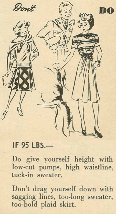 1950sunlimited:  Fashion Do's and Don't's, 1940s