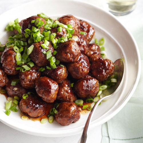 Spicy Apple-Glazed Meatballs: This budget-friendly dish costs under one dollar per serving.