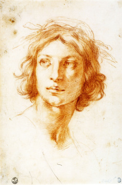 necspenecmetu:  Francesco Furini, Head of a Young Man, 17th century