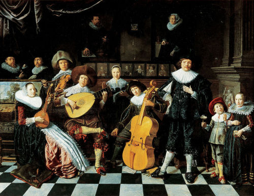 classicalliterature:  Jan Miense Molenaer - Family Making Music (1635)