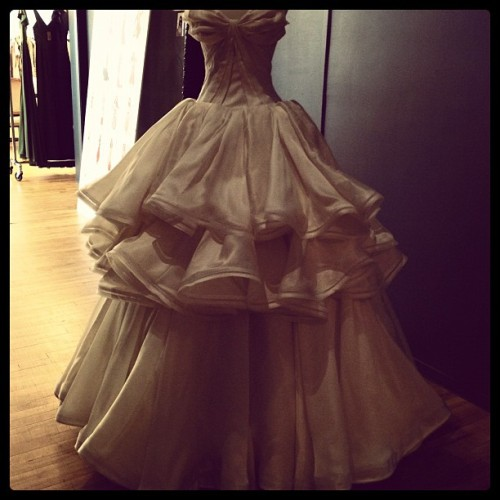 THE finale dress @zac_posen!  Sigh! (Taken with Instagram)