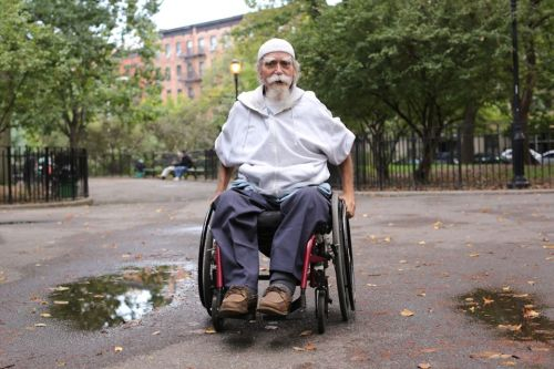 "humansofnewyork:  This guy was a great sport. He asked why I wanted to take his photograph, and his friend shouted: ""Because you look like a Muslim Colonel Sanders!"""