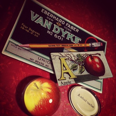 Van Dyke Pencils, #fall apples and an ode to #teachers. Feeling like #autumn at #johnderian  (Taken with Instagram at John Derian Company)