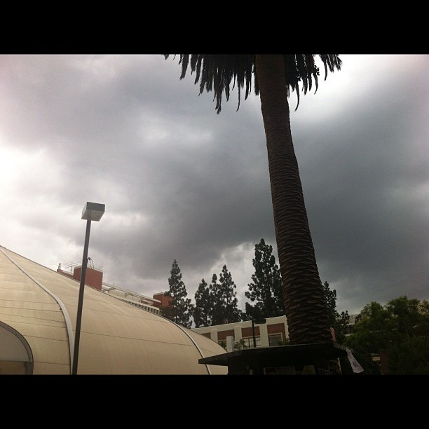 An odd sight for me here at USC. It's been sunny 80-95 since August. (Taken with Instagram at Grace Ford Salvatori Hall (GFS))