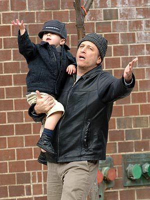aninjasdream:  Jon Stewart and his son.  D'aww.