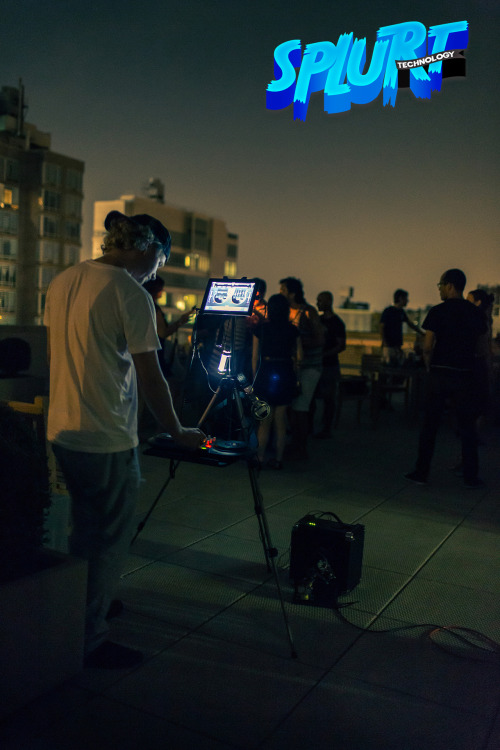 On a roof with my portable DJ rig…