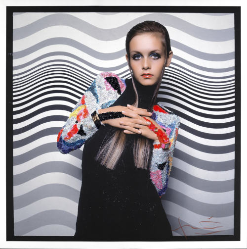 Twiggy, Vogue 1967  Painting by Bridget Riley