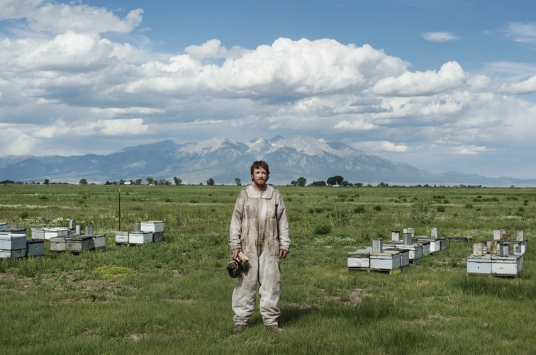 V.2 - Bee keeper Brent Edelen. Alamosa, Colorado in June 2012.