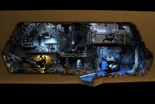Laughing Squid has lots of photos of this great Lego build of the Batcave. I like the dramatic lighting. Incredible LEGO Batcave Built Out of Over 20,000 Pieces