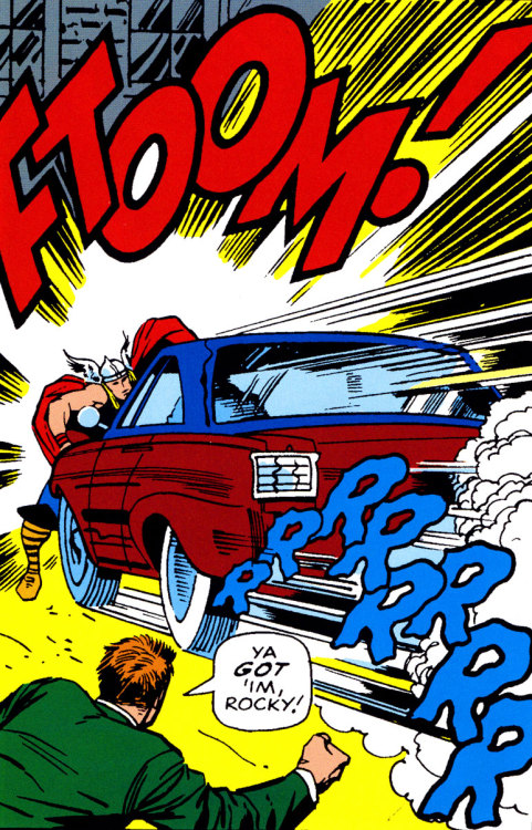 rraaaarrl:  Thor VS A Car  FTOOM!