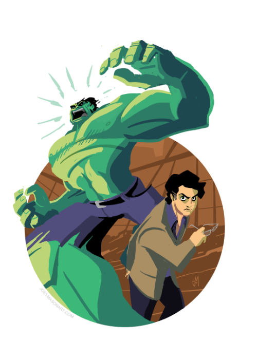 kastiakbc:  joeymasonart:  Hulkin' Out!  <3