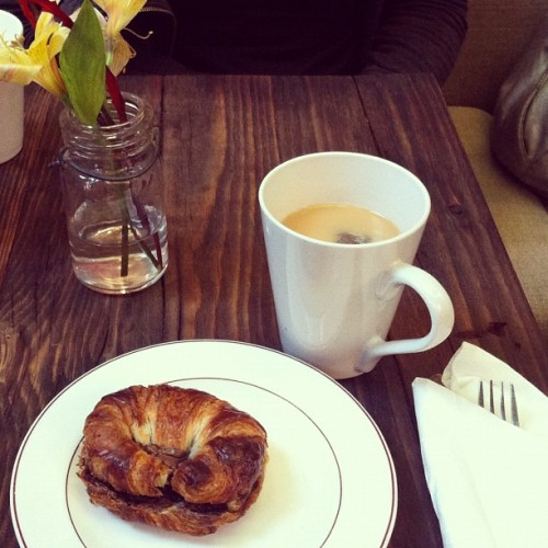 Post massage earl grey and a hot nutella banana croissant with @e_lands #bliss (Taken with Instagram)