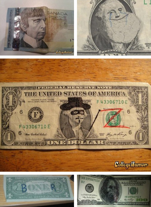 "Fancy Dolla Dolla Bills Y'all [Click for full gallery] With the nation's attention fixated on the economy in these few weeks leading up to the election, we thought we'd take a closer look at money itself. After all, ""it's the economy, stupid!"""
