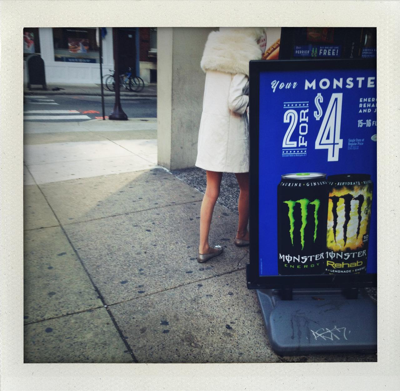 Gaga going for the monster drink.