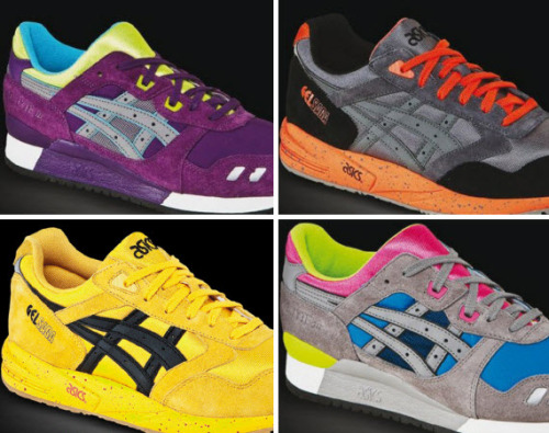 The 2013 Collection for ASICS Gel Lyte III and Gel Saga It's been a busy tear for ASICS and they've been getting ready for the Gel Lyte III and Gel Saga releases for 2013. From what we can see from the sneak previews, expect bold contrasting colourways made up of suede and mesh uppers. 2013 already looks good!