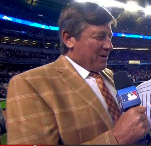 MLB ALDS Game 3 - Orioles @ Yankees Craig Sager post-game interview (close-up)