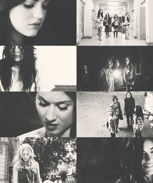 favorite shows in black&white: pretty little liars