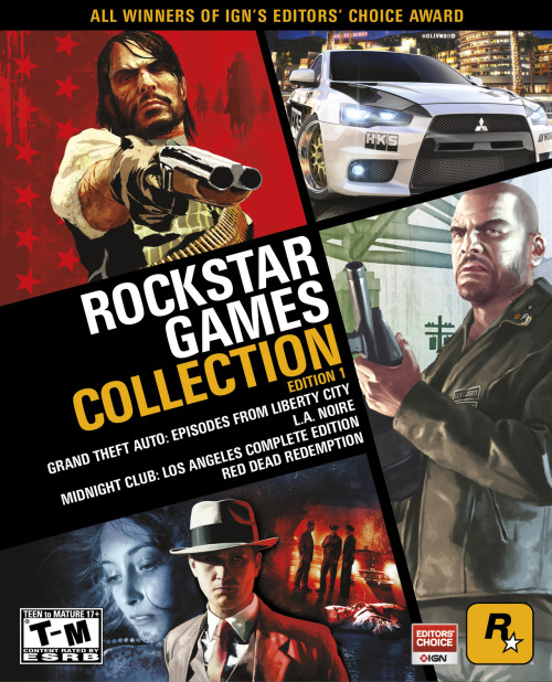gamefreaksnz:  'Rockstar Games Collection' officially announced  A four-game bundle of Rockstar's hit titles has been confirmed for release next month by the developer.