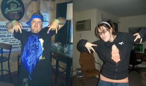 We really are a perfect match…photos from years ago lol.