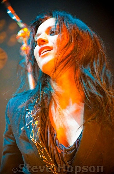 "Cristina Scabbia of Lacuna Coil performs at ACL Live at the Moody Theater, Austin, Texas, March 3, 2012.Photo copyright 2012,  <a href=""http://www.stevehopson.com"" rel=""nofollow"">Steve Hopson</a>.Please no use without license."