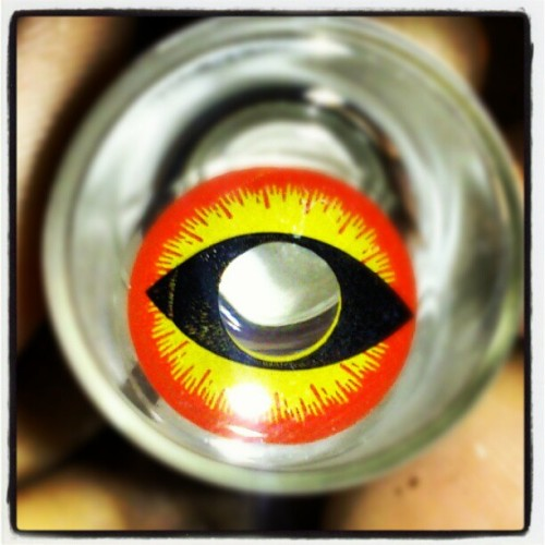 My Contacts Just Came In!  :-D  #Halloween #Stoked!  (Taken with Instagram at UNBC Residence)