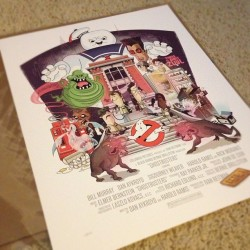 Just received my Ghostbusters print! Art by: @thebeast_isback (Taken with Instagram)