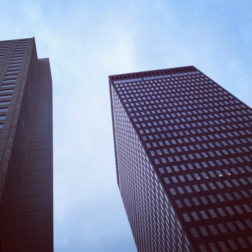 Cubes (Taken with Instagram at Downtown Des Moines Skywalk)