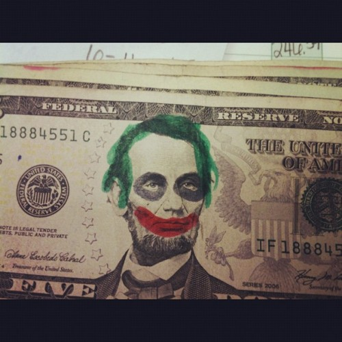 My friend found this lol #BatmanMoney (Taken with Instagram)