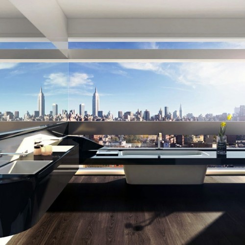 cabbagerose:  five franklin place penthouse, tribeca/UN studio via: stefanoandrighetto