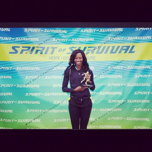 lelavictoria:  Smiling for the camera after winning the 5k at the spirit of survival race (Taken with Instagram)  So proud!