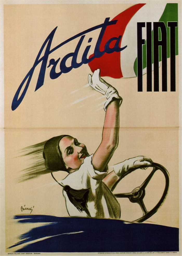 coololdthings:  Fiat courtesy of Vintage Advertising and Poster Art
