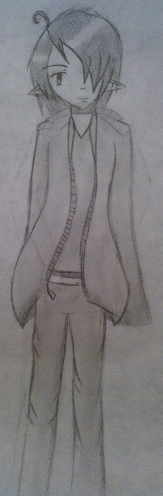 (( I sketched Modern!Kaida during school.  I'm wondering if I should digital ink it or not… hmmmmmmm ))