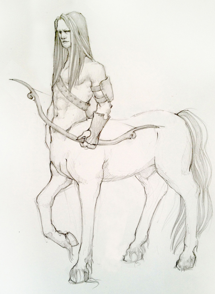 Centaur Voguing Centaurs are one of my favorite creatures in the fantasy world. Needless to say I am thrilled they are included in the list of races in the newest campaign crafted by the SO. Woo!
