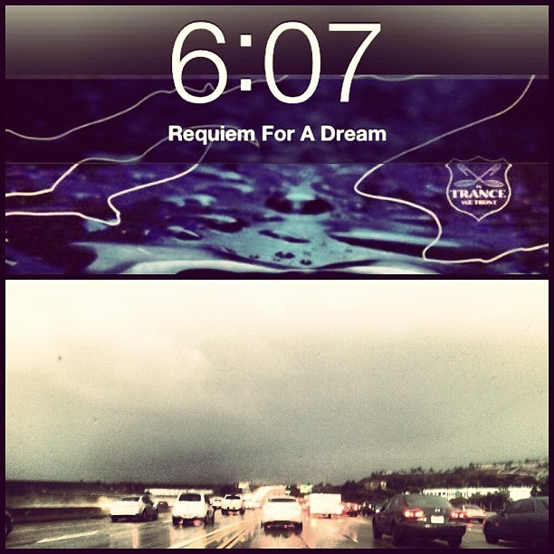 Traffic doesn't bother me on a day like today ☺ #rain #requiemforadream #traffic #iaintmad #la (Taken with Instagram)
