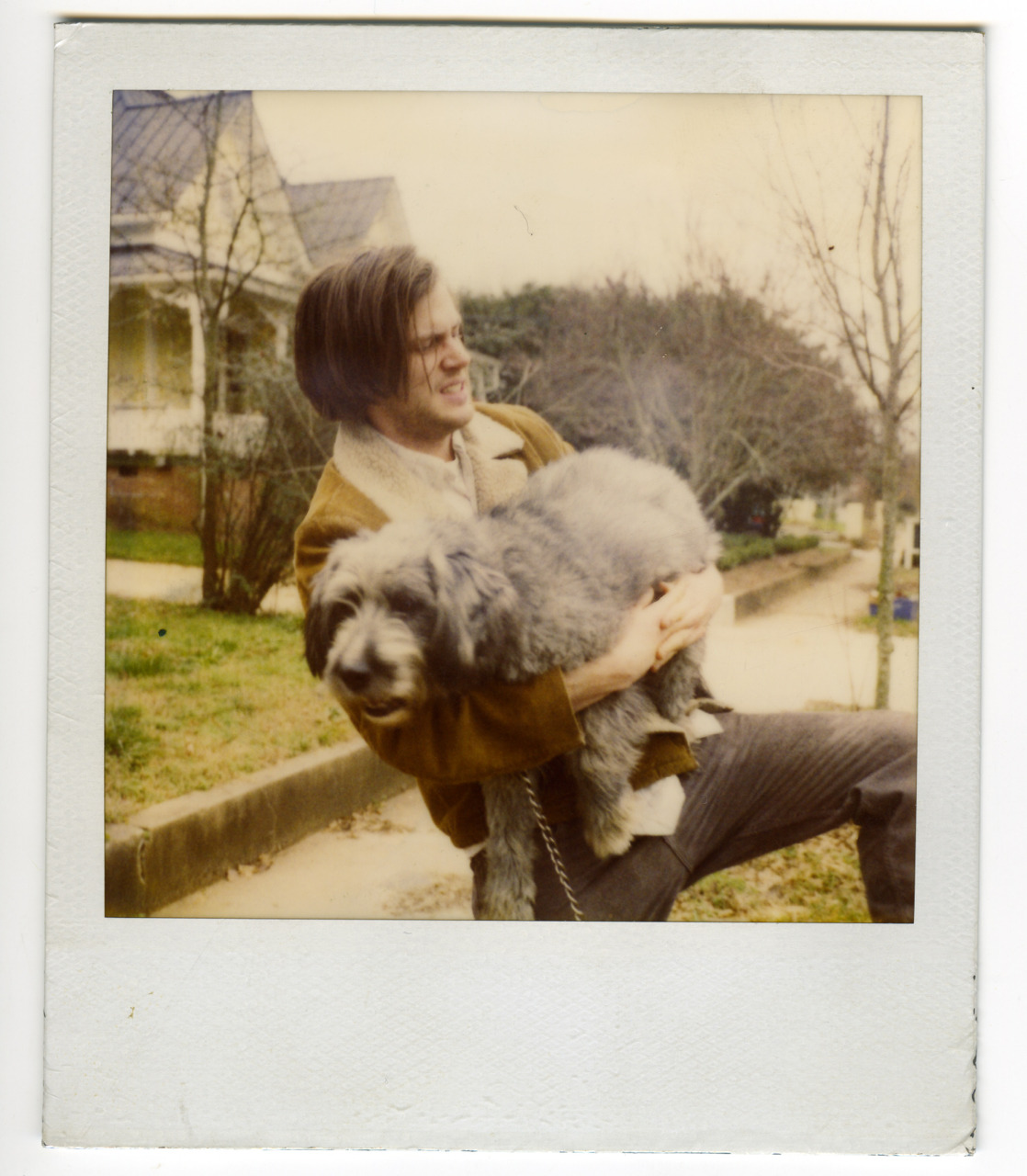 Polaroid of roomate Jeff Mangum and beloved dog in Athens, Georgia circa 1999.