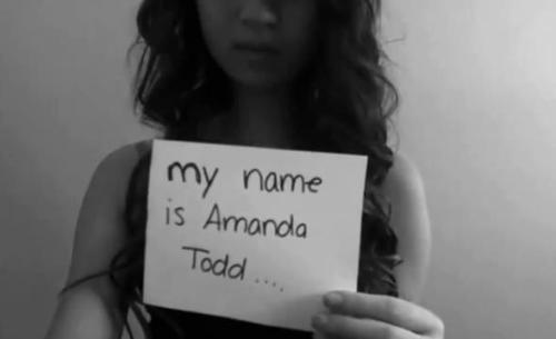 organically-gorgeous:  airw4ves:  R.I.P Amanda Todd.Fifteen year old Amanda Todd was found dead, she committed suicide on Wednesday October 10th 2012 due to being bullied. Please reblog this to remind everyone that bullying isn't a joke.  You can read more about her story HERE. Rest in Peace, beautiful girl <3