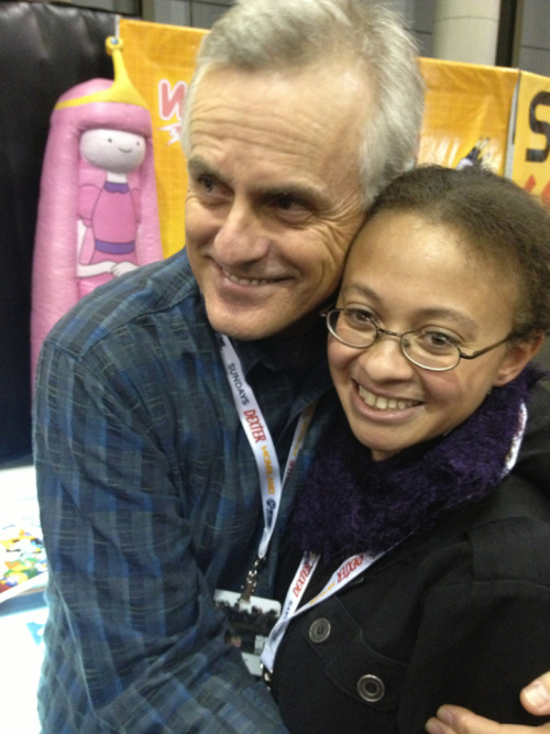 I met Rob Paulsen. I gave him a framed piece of art I did of him with some of his characters. He gave me the biggest, most honest hug I've had in a long time after I told him he's one of the main reasons why I'm an artist, kept an interest in comic books and animation and followed my passions. To go immediately from a Daily Show taping to meeting Rob… I'm in nerd shock.