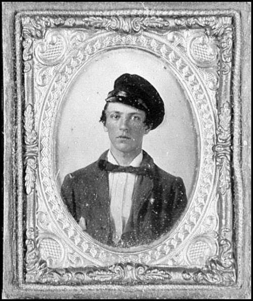 Portrait of Pvt. George Henry, Virginia Regiment, killed at Brandy Station, Va. Fought with the 12th Virginia Cavalry and was killed at the Battle of Brandy Station on June 9th, 1863. He is buried at Woodstock Cemetery. Private Williams was just 19 years old.