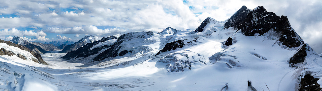 Aletsch Glacier seen from Jungfraujoch, Switzerland