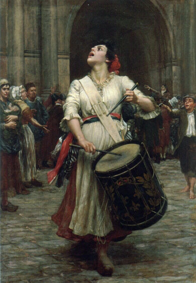 edwarddespard:  La Revolution by Valentine Cameron Prinsep I believe tricolour sashes as a fashion statement go with EVERYTHING.