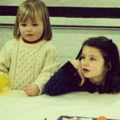 On my 7th birthday with my cousin Fiona. #throwbackthursdays (Taken with Instagram)