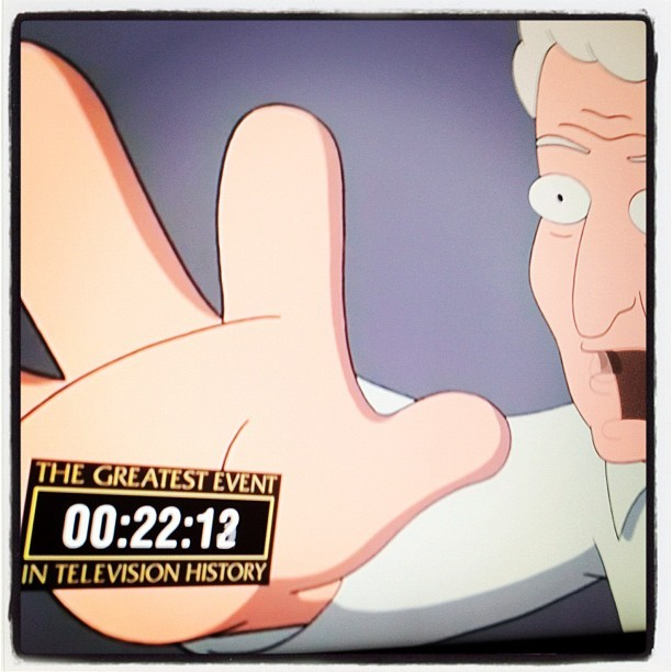 The countdown is in full effect! Get to a TV with adult swim now for The Greatest Event in Television History! (Taken with Instagram)