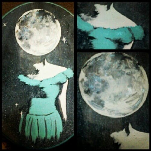 #painting #art #wood #stars #space #moon #girl #twin #autumnorchid #acrylic #forsale  (Taken with Instagram)