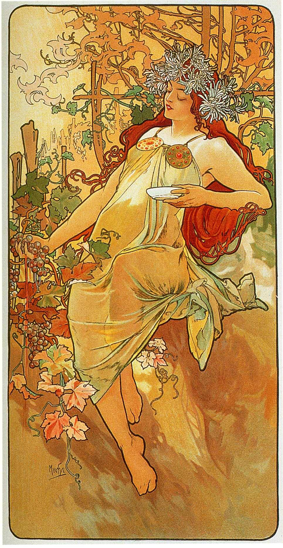 The Autumn (1896) by Mucha