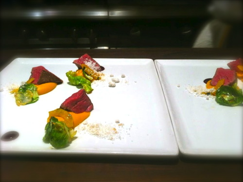 @gerardfcraft // Beef, squash, Brussels, rye, Concord grape, smoked tallow at @nichestlouis