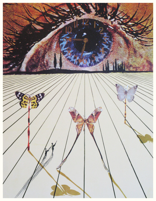 The Eye of Surrealist Time by Salvador Dali, 1971