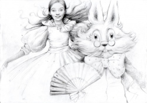alicismo:  Alice and Fan by Marie Petty.